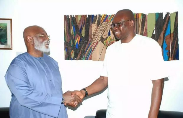 In-Photos: Fayose visits ex-Head of State, Abdulsalami Abubakar