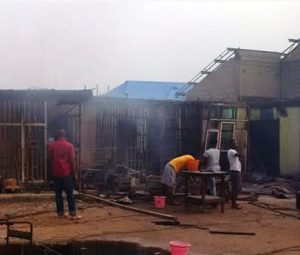ImageFile: POWA plaza disaster: property worth billions of naira burnt to ashes