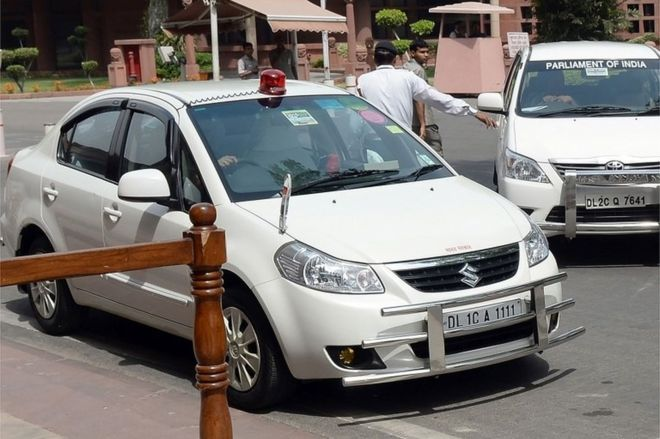Government of India bans use of red beacons on VIP vehicles