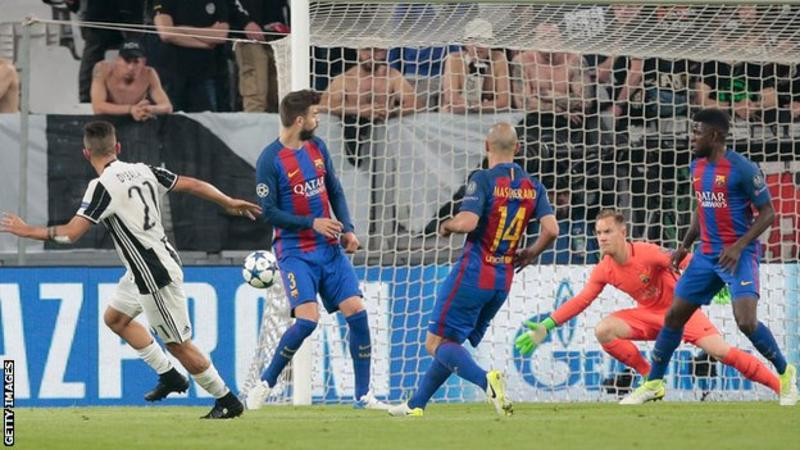 Juve put three past Barca to take control of tie