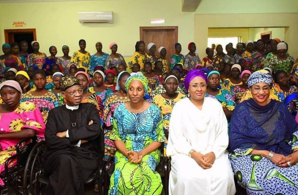 Image result for Aisha Buhari Tells Chibok Girls TO Forget The Past, Acquire Skills –