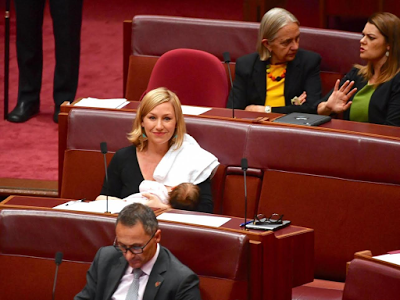 Australian Senator becomes first politician to breastfeed in parliament