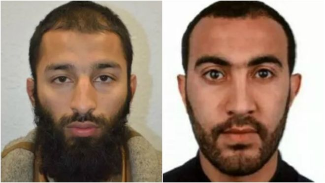 Two of three suspects identified in London Bridge attack