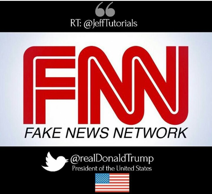 President Trump's Fake News Network CNN logo