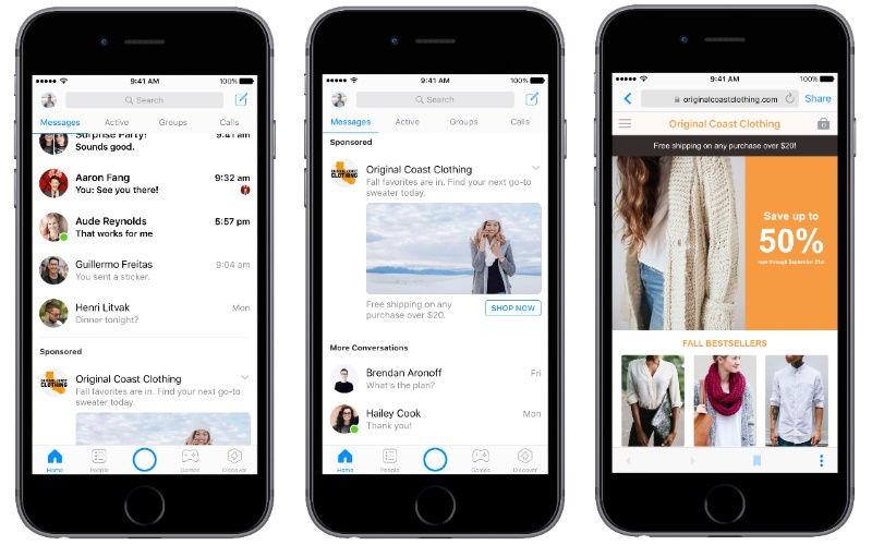 Facebook announces Messenger ads expansion for businesses