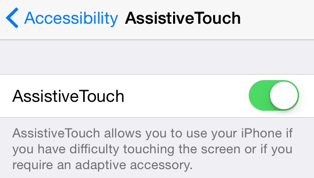 iOS software home button settings