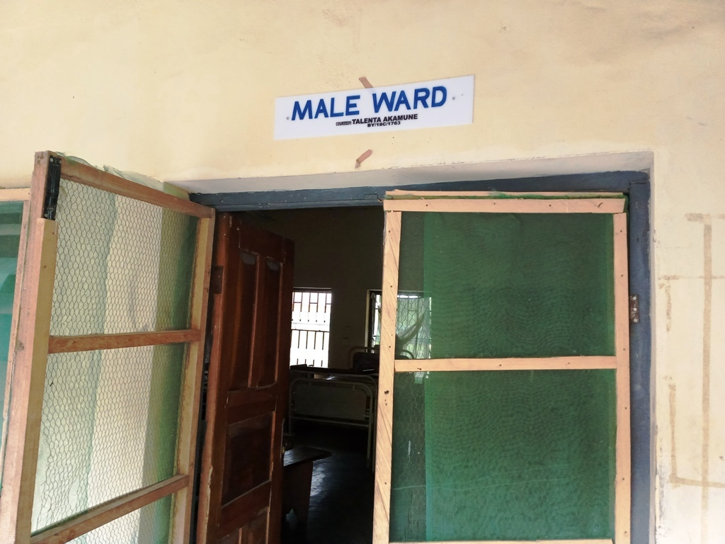 This is the male ward of Odi General Hospital in Bayelsa State