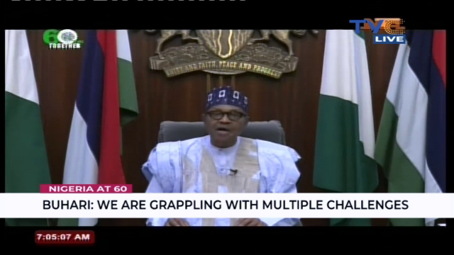 BREAKING (Nigeria @60): We are grappling with multiple challenges – Buhari