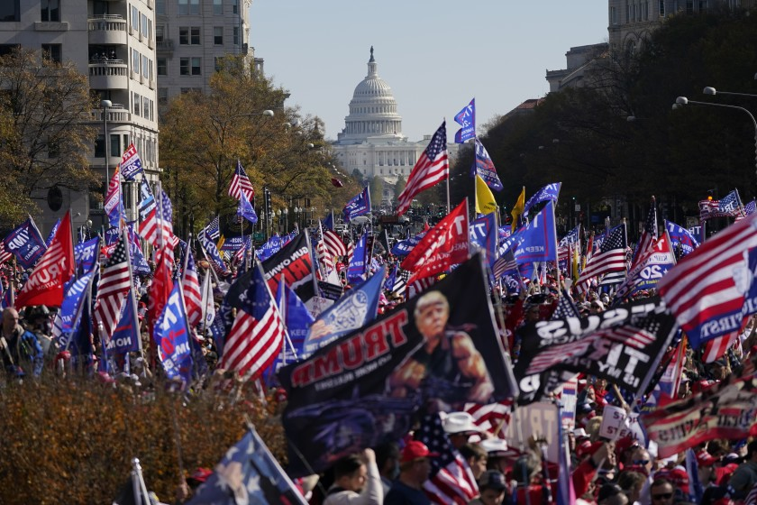 Trump supporters protest in Washington to contest US election results