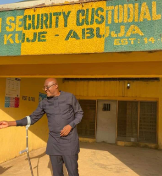 Ex-PDP spokesman, Olisa Metuh released from Kuje prison [Photos]